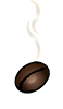Steaming Bean Coffee Sticky Logo Retina