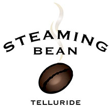 Steaming Bean Coffee Retina Logo